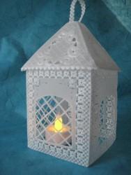 Cette lanterne r alis e en papier pergamano illuminera toute centre de table - Fabriquer une lanterne en papier ...